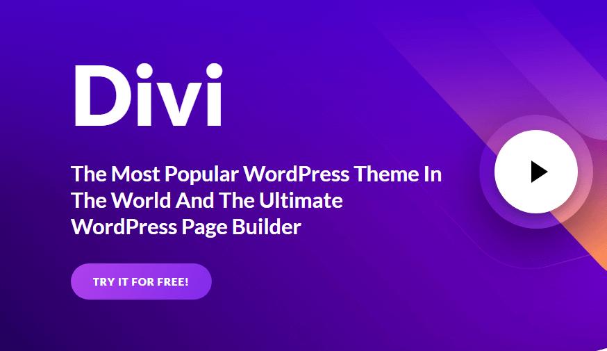 Thème Divi pour la création de site web wordpress